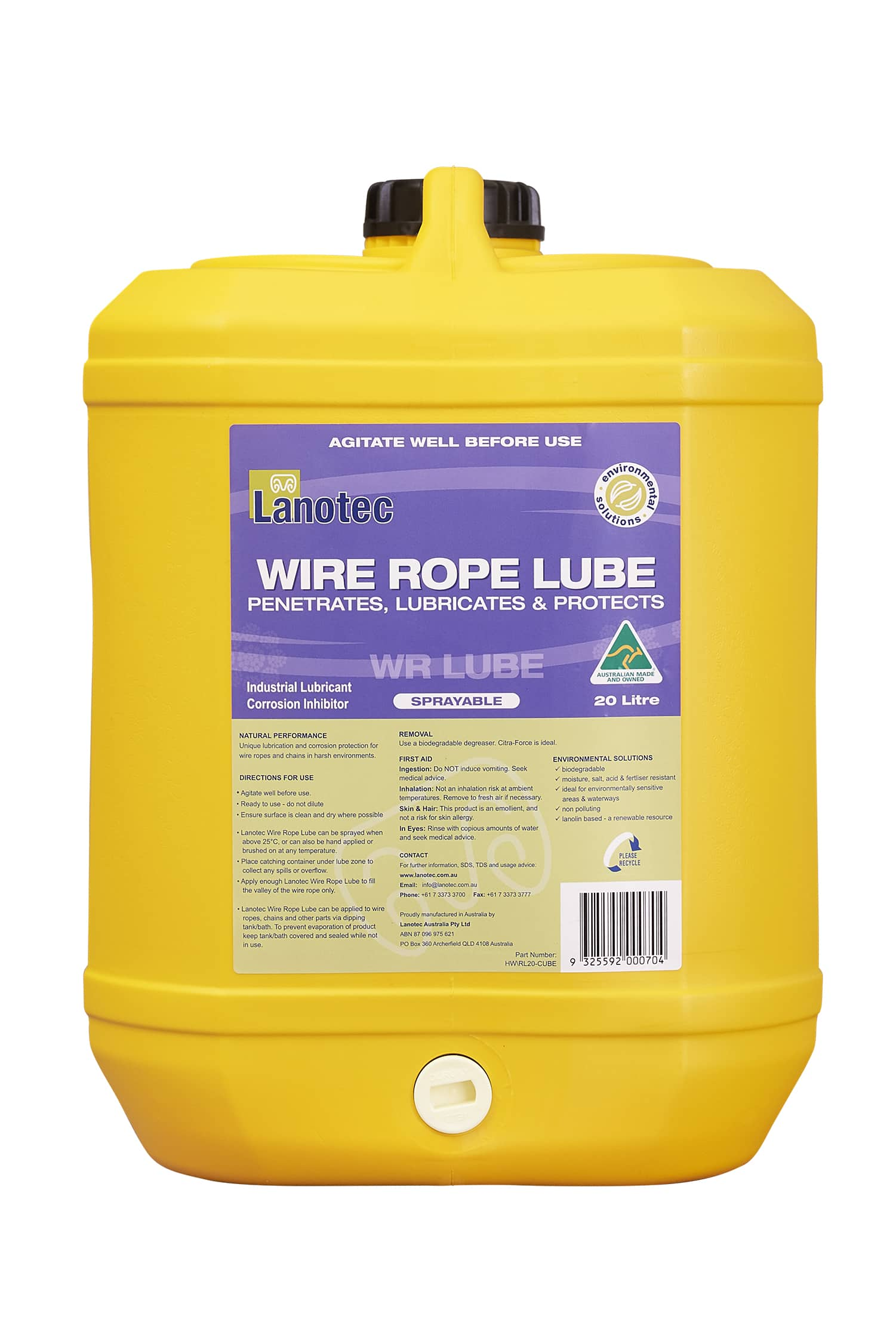 Wire Rope Lube - Lanotec